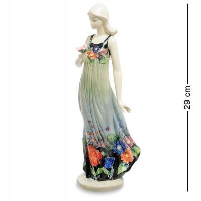 """Статуэтка """"Девушка"""" 9,5x10x29 см., фарфор Pavone, Италия"""
