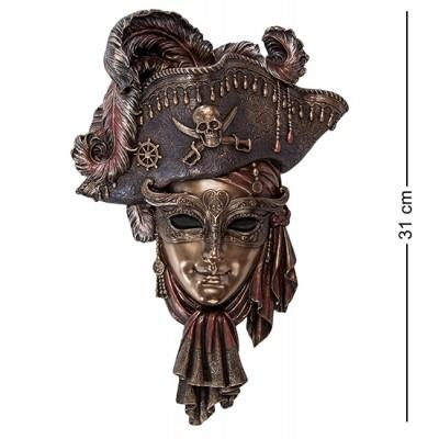 "Венецианская маска ""Пират"", 20,5х7,5х31 см., полистоун Veronese, Гонконг"