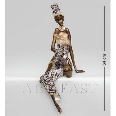 """Статуэтка """"Африканская леди"""" 21x32x64 см., полистоун"""