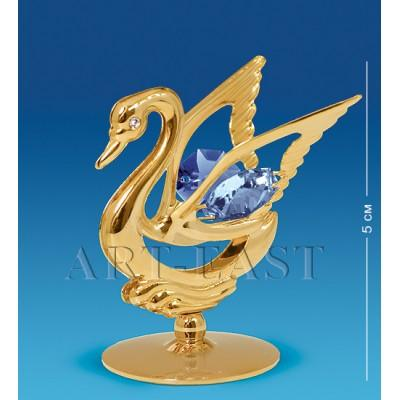"Фигурка ""Лебедь"" 4,5x4,5x5 см., с цвет. крист. Crystal Temptations, США"