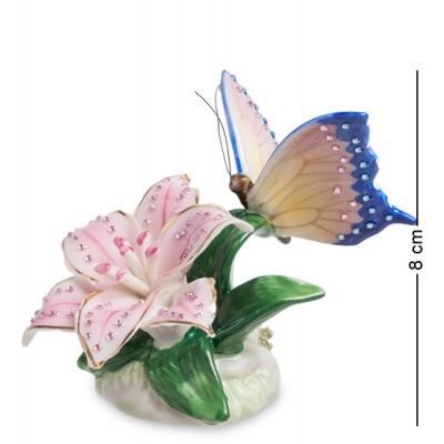 """Фигурка """"Бабочка на лилии"""" 7x9x9 см., Pavone, Италия"""