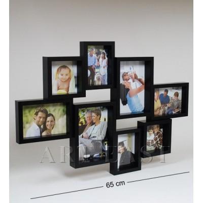 Коллаж черный на 8 фото 10x10/9x13/13x18/15x10 см., Bellezza Casa, Италия