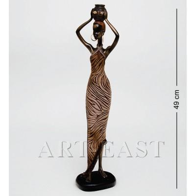 """Статуэтка """"Африканская леди"""" 9x11x49 см., полистоун"""