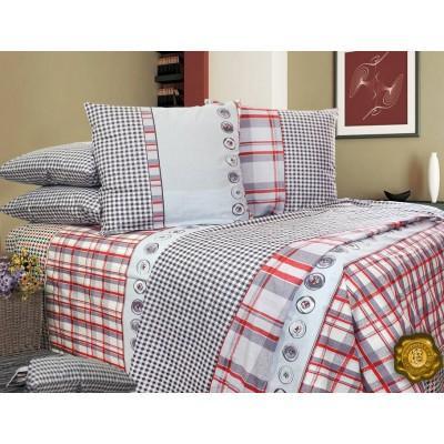 Комплект постельного белья Евро, Бязь-100% хлопок (ЕТ0551)