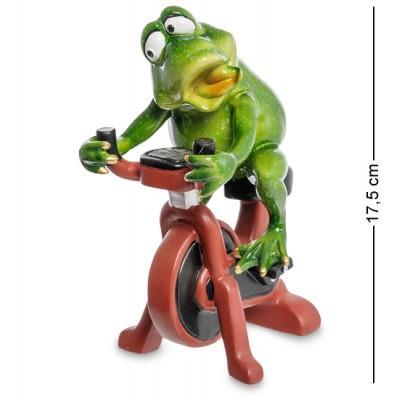 """Фигурка """"Лягушка на велотренажере"""", 17,5 см., MN- 68"""