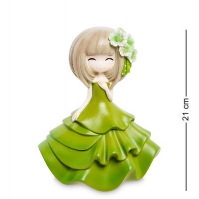 """Статуэтка-копилка """"Девочка в зеленом платье"""", 21 см., полистоун"""