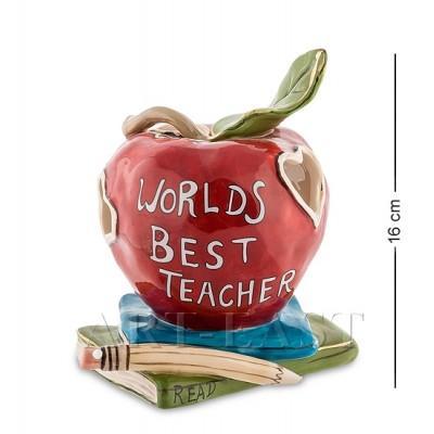 """Статуэтка-подсвечник """"Лучшему в мире учителю"""" 14x15x16 см., Blue Sky, Италия"""