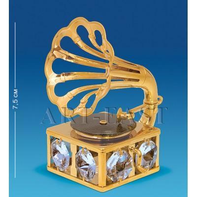 "Фигурка ""Грамофон"" 6x5,5x7,5 см., Crystal Temptations, США"