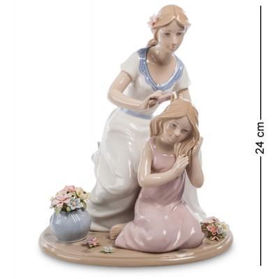"""Статуэтка-композиция """"Мама с дочерью"""" 20,5x17x24 см., Pavone, Италия"""