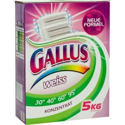 Стиральный порошок Gallus Weiss для белых тканей, 5 кг