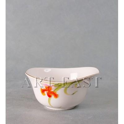 "Салатник ""Орхидеи"" 15,2см., фарфор"