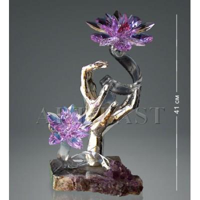 """Фигура """"Руки с хрустальными цветами"""" 41 см., Nuria Grau and Ric-Art, Испания"""