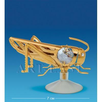 "Фигурка на магните ""Кузнечик"" 7,5х5х4,5 см., Crystal Temptations, США"