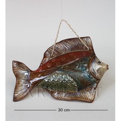 Подвесная фигура Рыба 30 см., керамика
