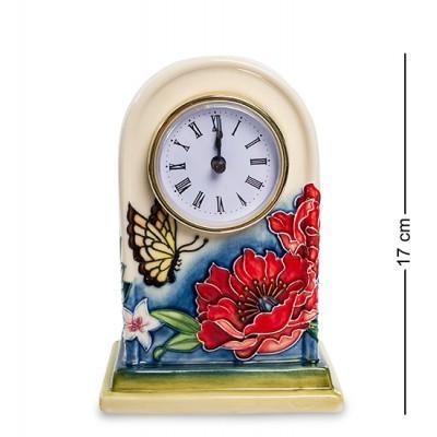 "Часы ""Цветущий сад"" 12x7,5x17 см., фарфор Pavone, Италия"