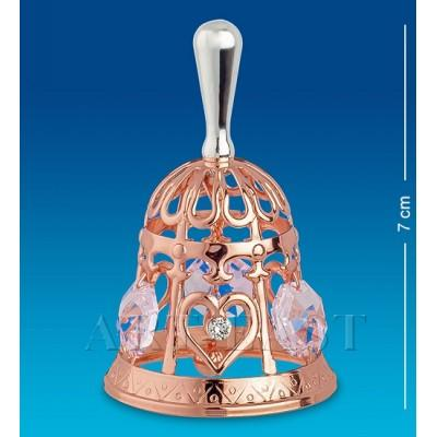 """Фигурка """"Колокольчик"""" 4x4x7 см., с цвет. крист. Crystal Temptations, США"""