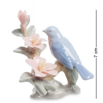 """Фигурка """"Птичка на азалии"""" 6x5x7 см., Pavone, Италия"""