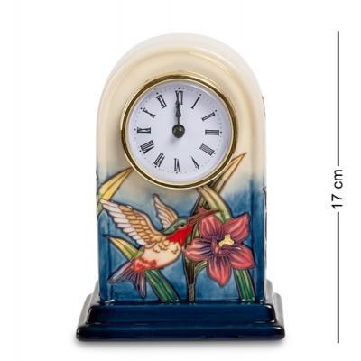 "Часы ""Колибри"" 11,5x7,5x17 см., фарфор Pavone, Италия"