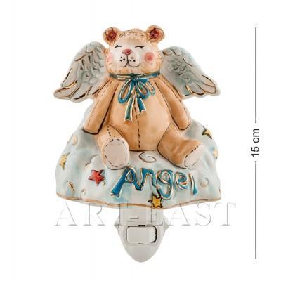 """Статуэтка-светильник """"Медвежонок-ангел"""" 10,5x10x15 см., Blue Sky, Италия"""