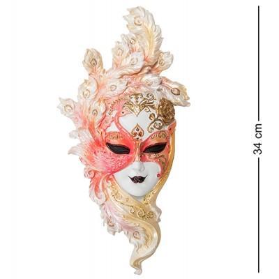"Венецианская маска ""Павлин"", 17,5х4,5х34 см., полистоун Veronese, Гонконг"