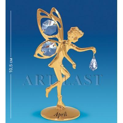 """Фигурка """"Фея"""" - апрель 6x4x10,5 см., Crystal Temptations, США"""