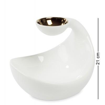 """Блюдо-подсвечник """"Романтика"""" 25x22x21 см., Art Ceramic, Чехия"""