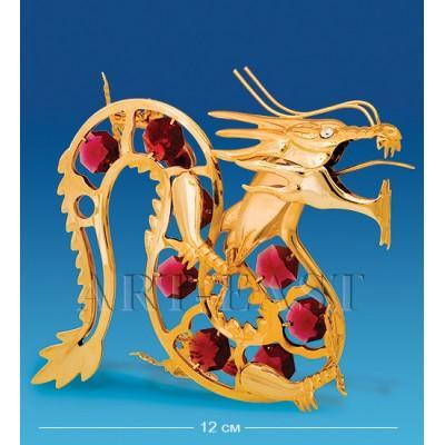 """Фигурка """"Дракон"""" 13,5x6,5x11 см., с цвет. крист. Crystal Temptations, США"""