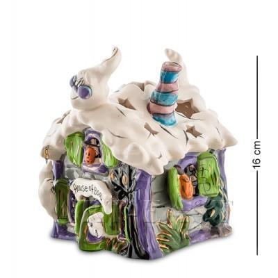 """Статуэтка-подсвечник """"Домик с привидениями"""" 14x14x16 см., Blue Sky, Италия"""