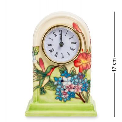 "Часы ""Колибри в саду"" 11,5x7,5x17 см., фарфор Pavone, Италия"