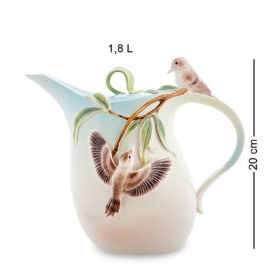 "Заварочный чайник ""Зимородок Кукабара"" 1.8 л., фарфор Pavone, Италия"