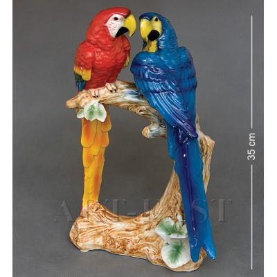 """Статуэтка """"Пара попугаев"""" 20,5x25x35 см., фарфор"""