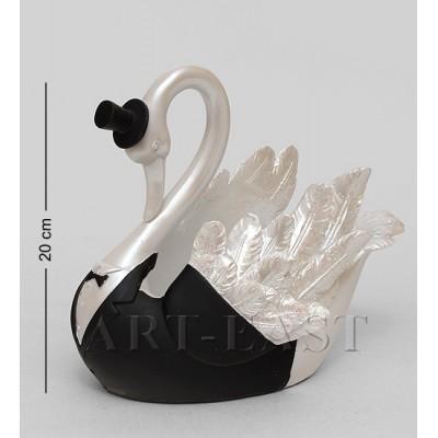"""Статуэтка """"Белый лебедь"""" подставка под бутылку 14,5x22x20 см., полистоун"""
