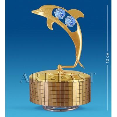 """Фигурка музыкальная """"Дельфин"""" 8x8x15 см., Crystal Temptations, США"""