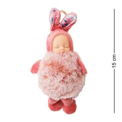 Брелок Малыш в костюме Зайчика, 15 см., PT-72-D