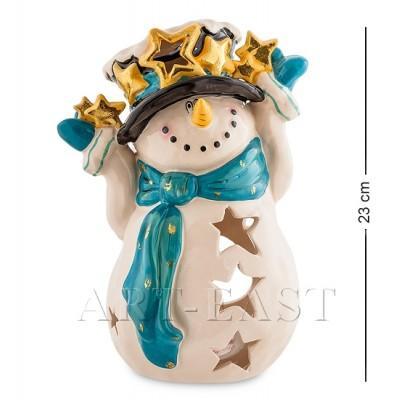 "Статуэтка-подсвечник ""Снеговик"" 17x17x23 см., Blue Sky, Италия"