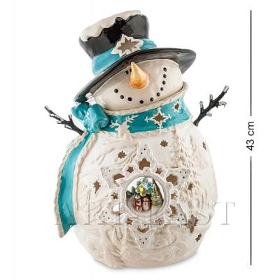 "Статуэтка-подсвечник ""Снеговик"" 32x26x43 см., Blue Sky, Италия"