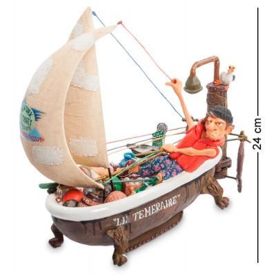 """Статуэтка яхта """"Вокруг света"""" 27x17x24 см., полистоун Forchino, Франция"""