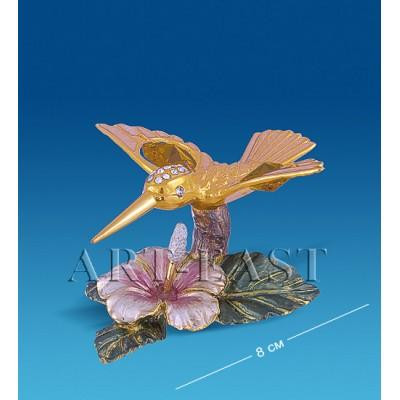"Композиция ""Колибри на цветке"" 8x8x4 см., с цвет. крист. Crystal Temptations, США"