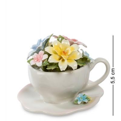 """Композиция чаша """"Весенние цветы"""", 8x8x5,5 см., Pavone, Италия"""