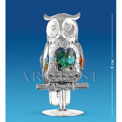 "Фигурка ""Сова"" 4x4x8 см., с цвет. крист. Crystal Temptations, США"