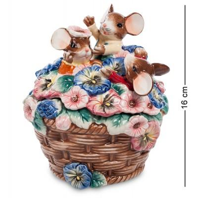 "Фигурка-шкатулка ""Цветочный рай"" 13x13x16 см., Pavone, Италия"