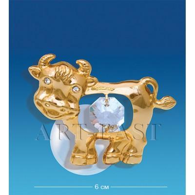 "Фигурка на магните ""Бык"" 6x3,5x3 см., Crystal Temptations, США"