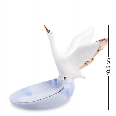 "Фигурка-пепельница ""Лебедь"" 12x7x10,5 см., фарфор"