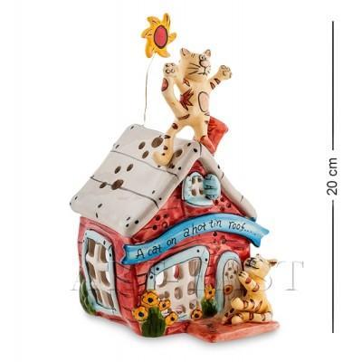 """Керамический """"Кошкин дом"""" 11x12,5x20 см., Blue Sky, Италия"""