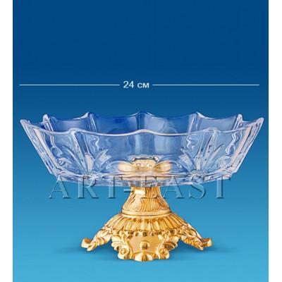 Фруктовница хрустальная 24x24 см., Crystal Temptations, США