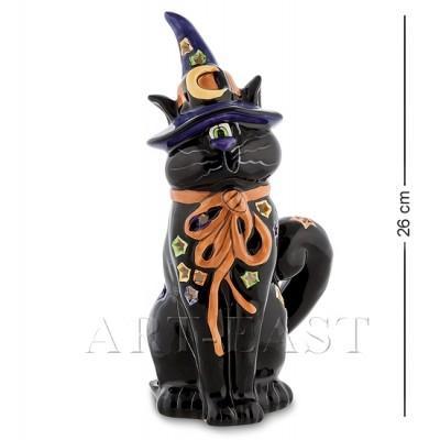 """Подсвечник """"Чудесный кот"""", 13x12x26 см., фарфор Pavone, Италия"""
