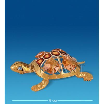 """Фигурка """"Черепаха"""" нов. с эмалью и цв.кам. 6,5x8x4 см., Crystal Temptations, США"""