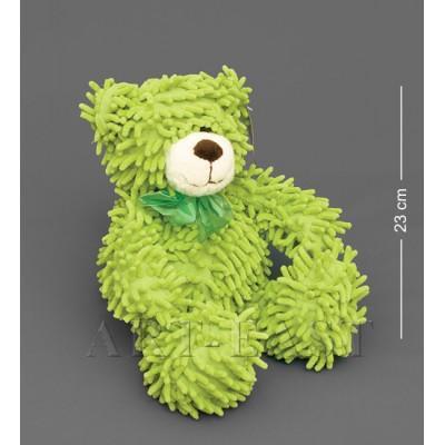 Мягкая игрушка медведь с бантиком - зеленый 35см., Color Rich