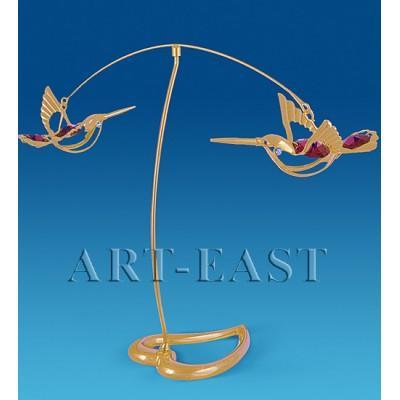 "Фигурка ""Пара колибри"" 21x5x15 см., с цвет. крист. Crystal Temptations, США"