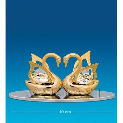 "Визитница ""Два лебедя"" 10x5x4 см., Crystal Temptations, США"